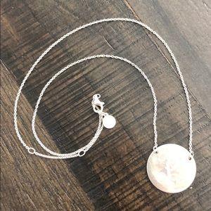 "Stella & Dot engraved ""P"" necklace."
